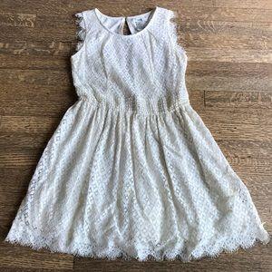 Pretty lace/crochet dress with petticoat